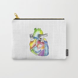 anterior view of human heart Carry-All Pouch