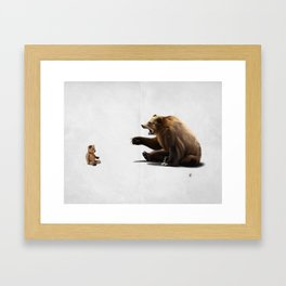 Brunt (wordless) Framed Art Print