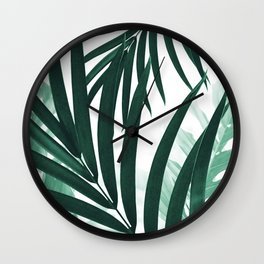 Palm & Monstera Leaves Mix #2 #foliage #decor #art #society6 Wall Clock
