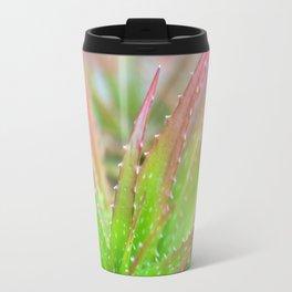Pink & Green Succulent Travel Mug