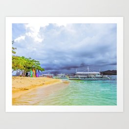 Arrival at Cowrie Art Print