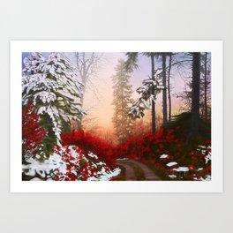 Christmas Way Art Print