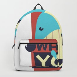 Valetines Day - Whale You Be Mine Backpack
