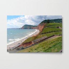 Sidmouth Beach Jurassic Coast Devon England Metal Print