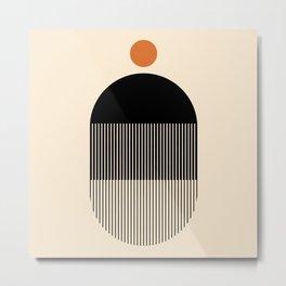 Abstraction_NEW_RED_SUN_LINE_POP_ART_001XZ Metal Print