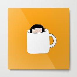 Hiding in a Tea Cup Metal Print