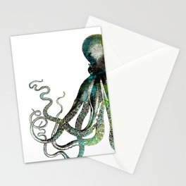Octopus marine life watercolor art Stationery Cards