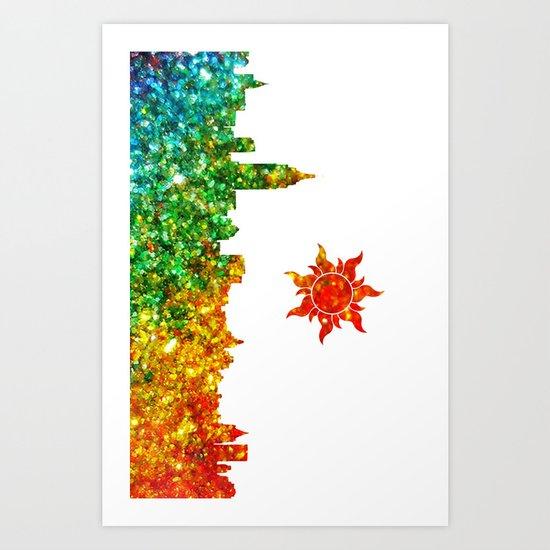 Glitter City Art Print