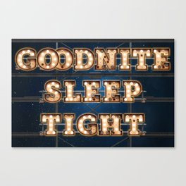 Goodnite Sleep Tight - Wall-Art for Hotel-Rooms Canvas Print