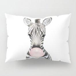 Bubble Gum Zebra Pillow Sham