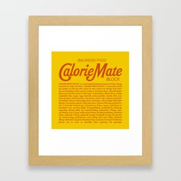 Metal Gear Solid - Calorie Mate Block Framed Art Print