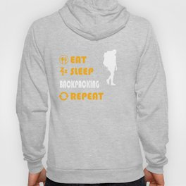 Backpacking - present for men and women Hoody