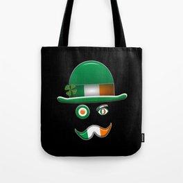 Irish Flag Face. Tote Bag