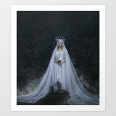 Dark Bride mystic woman night Art Print