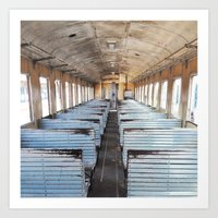 train Art Prints featuring Train by create.mojo