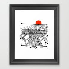 the Roads Framed Art Print
