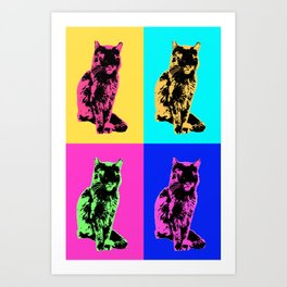 Cat Pop Art Print