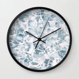 Marbled Water Nature Abstract Muted #artprints #decor #society6 Wall Clock