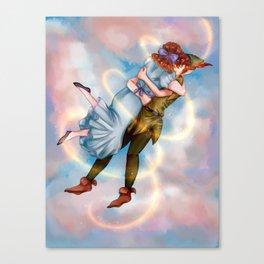 Peter Pan and Wendy Darling Canvas Print