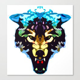 Wolf Icon 01 Canvas Print