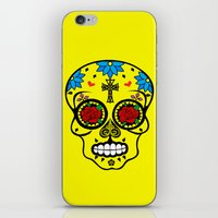 calavera iPhone & iPod Skins featuring Calavera by SuperEdu