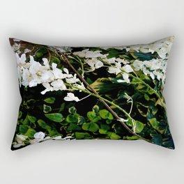 Summer flower Series - Pure white Rectangular Pillow