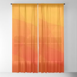 Orange Sunset Sheer Curtain