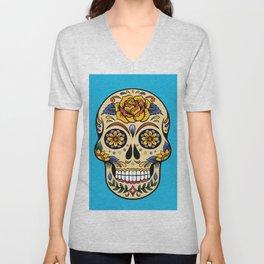 Colorful Skull II Unisex V-Neck