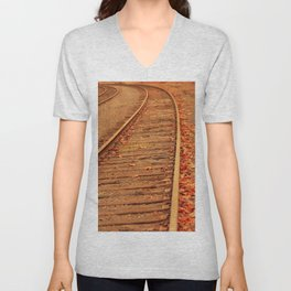 AUTUMN RAILS Unisex V-Neck