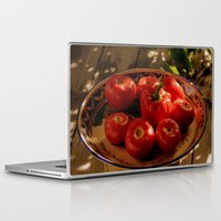 vegetables Laptop & iPad Skins featuring Red vegetables by Svetlana Korneliuk