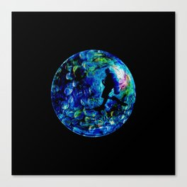 Marble Sea Canvas Print