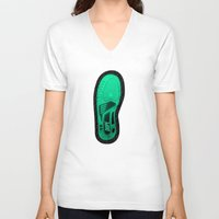 sneaker V-neck T-shirts featuring Sneaker Lover by Ric_Hardwood