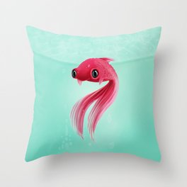 Little Fish Coy Koi Throw Pillow