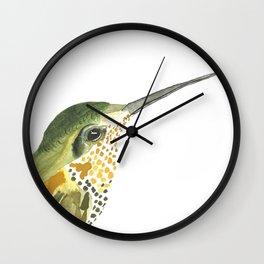 Golden Beauty Hummingbird Wall Clock