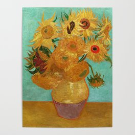 Vincent Van Gogh Twelve Sunflowers In A Vase Poster