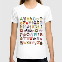sesame street T-shirts featuring Sesame Street Alphabet by Mike Boon