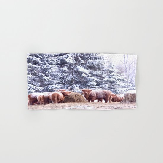 West Highland Cattle Hand & Bath Towel