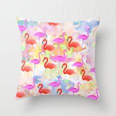 Red hot Flamingo  Throw Pillow