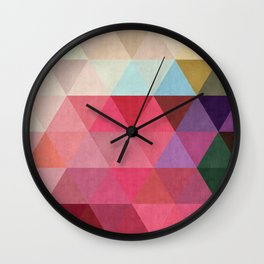 Cosmic abstract and colorful II Wall Clock