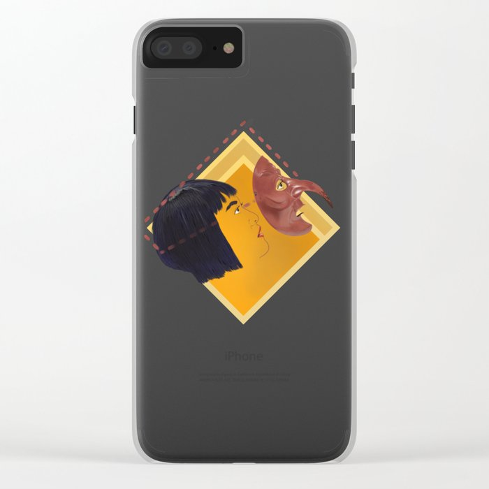 Make your own kabuto path Clear iPhone Case
