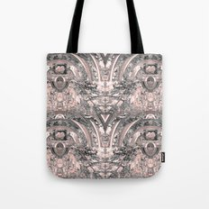 grey rose elegance pattern Tote Bag