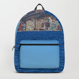 Benidorm city and sea Backpack