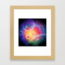 Abstract in perfection 113 - Space and time Framed Art Print