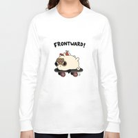 pug Long Sleeve T-shirts featuring PUG. by Jarvis Glasses