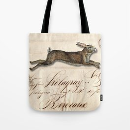 The French Rabbit Tote Bag