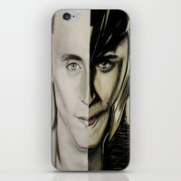 tom hiddleston iPhone & iPod Skins featuring Tom Hiddleston by Goolpia