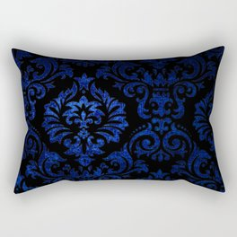 Doctor Who - Tardis Blue Damask Pattern Rectangular Pillow