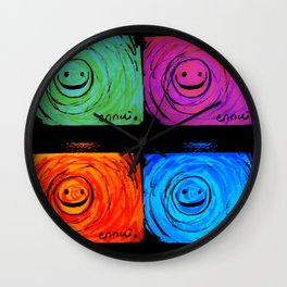 Ennui - Smiles For All 2 Wall Clock