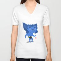 beast V-neck T-shirts featuring Beast by Rod Perich