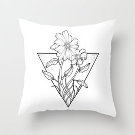 bush sunflowers Throw Pillow